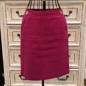 Talbots Pencil Skirt in Magenta